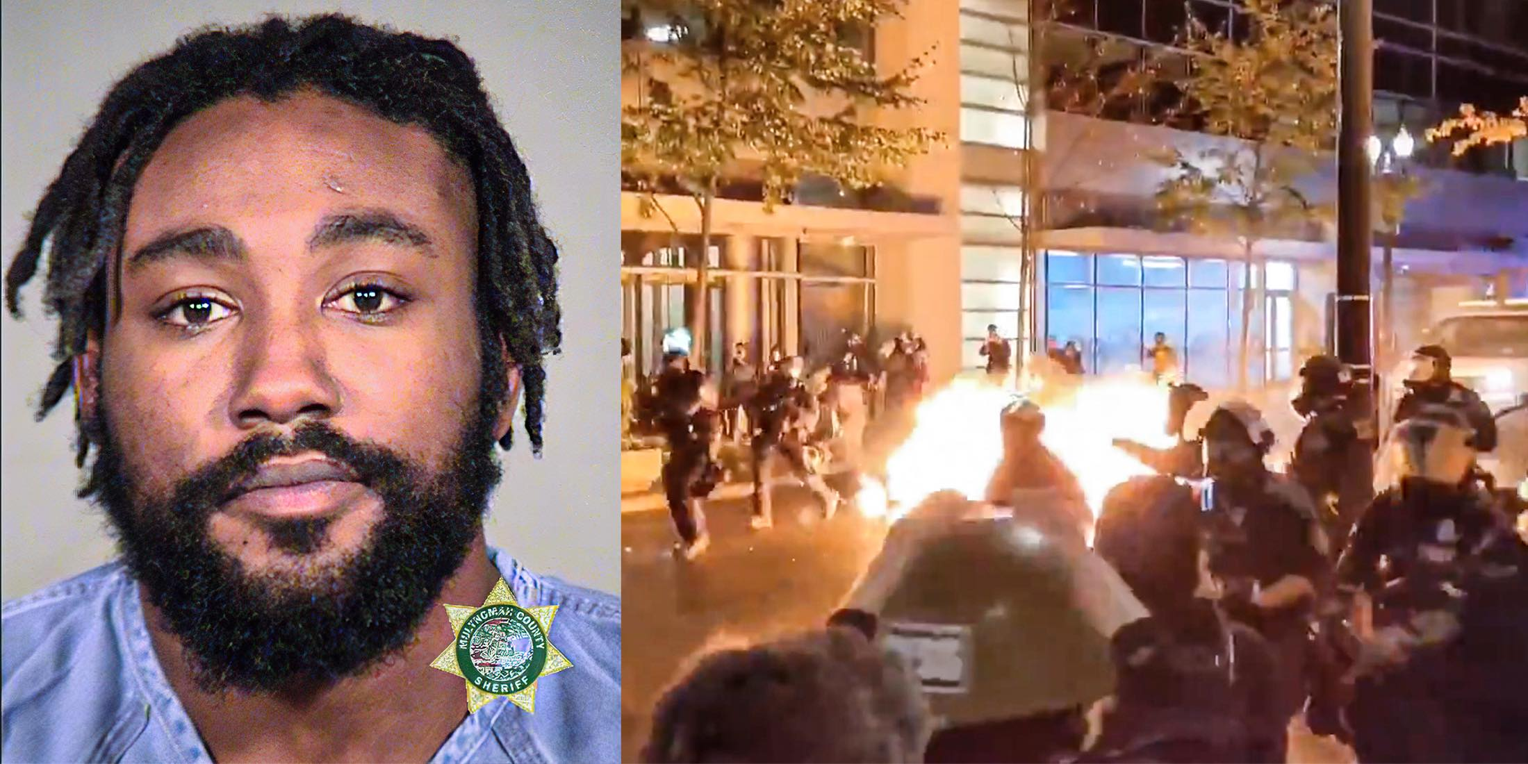 Who is the BLM leader charged with attempted murder of police in Portland?