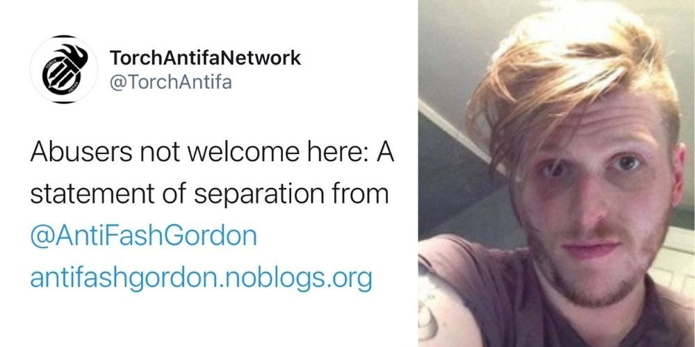 Antifa network disavows activist AntiFash Gordon amid abuse claims