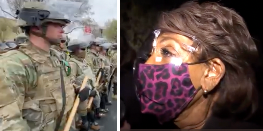 INCITEMENT: Two National Guardsmen in Minneapolis shot hours after Maxine Waters calls for protestors to 'get more confrontational'