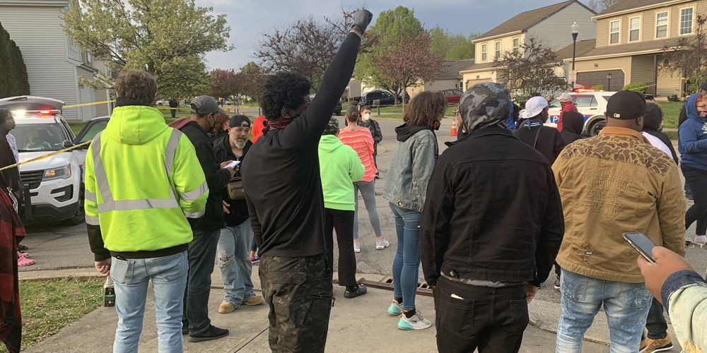 BLM protesters arrive at scene of Columbus, Ohio police involved shooting of 15-year-old girl
