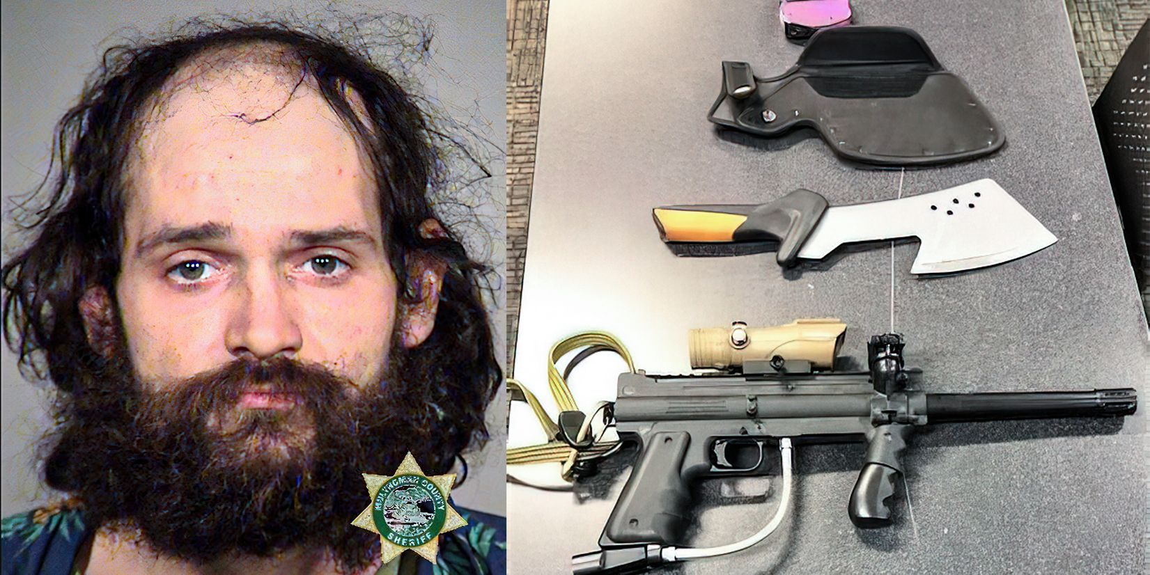 Axe-wielding Antifa protester arrested again