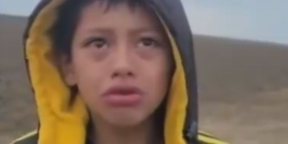 Migrant boy ABANDONED by the group he was traveling with