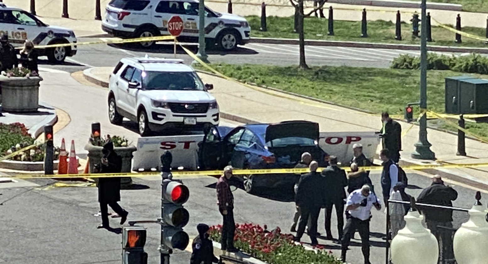 Car Rams US Capitol Barricade, One Officer and Driver Dead