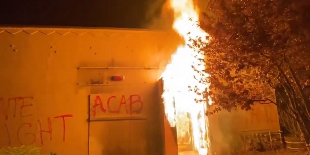 Rioters set Portland police union headquarters on fire during second night of unrest