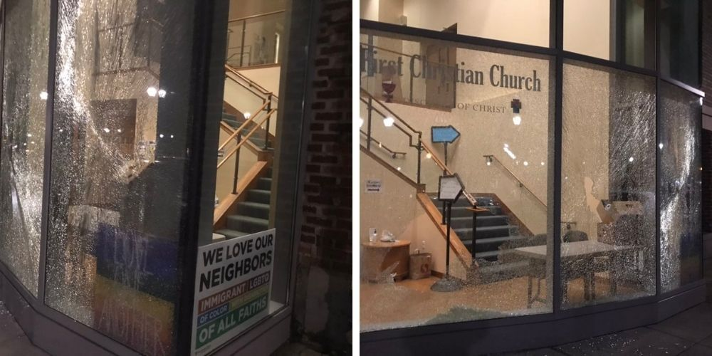 Antifa vandalized a church in Portland causing them to be unable to feed the homeless