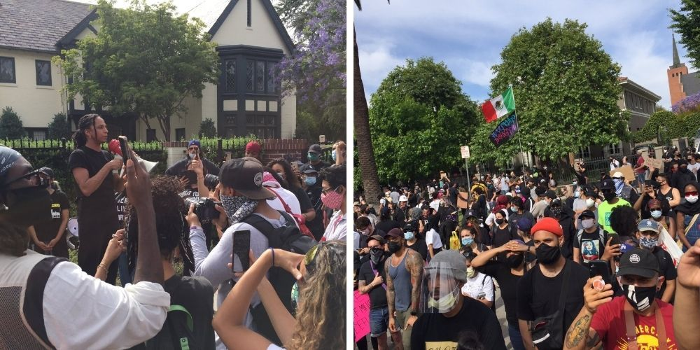 BLM sends protesters to LA Mayor's home after Chauvin verdict