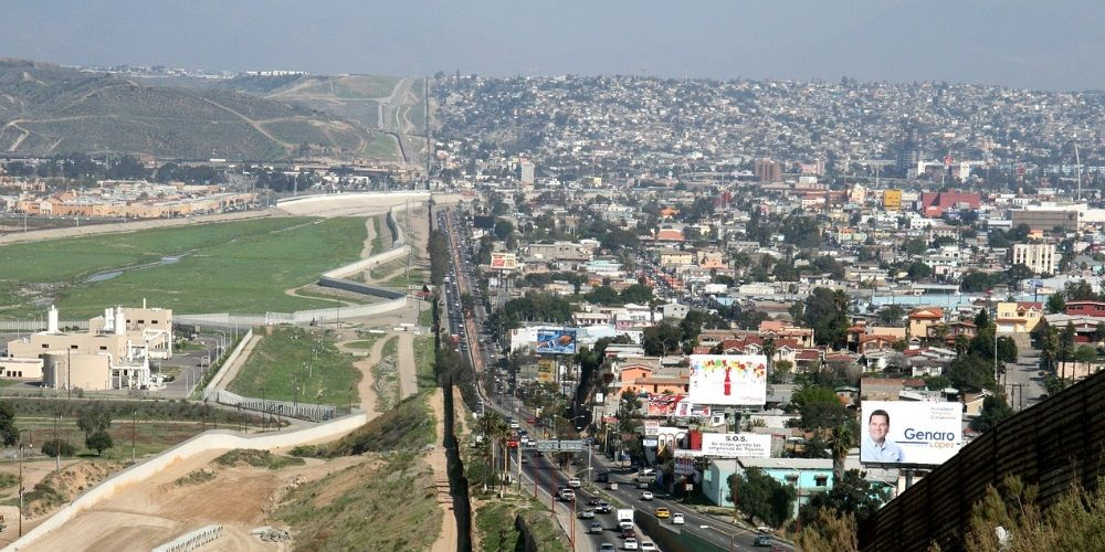 Border wall construction material sits idle as migrants penetrate the gaps
