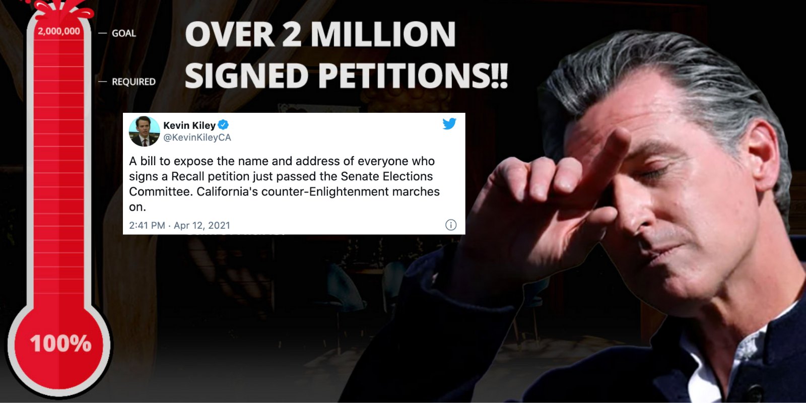 Bill to reveal the names of California recall petitioners gains traction