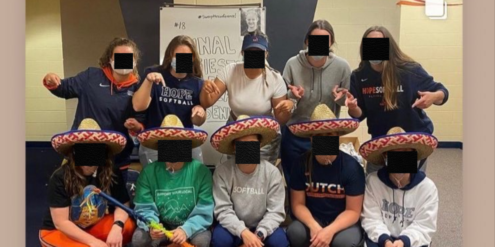 Softball team issues apology after wearing sombreros on Cinco de Mayo