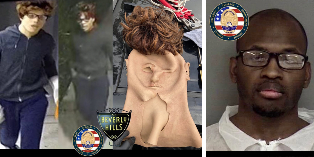 Black man who disguised himself with a white guy mask arrested in connection to dozens of burglaries