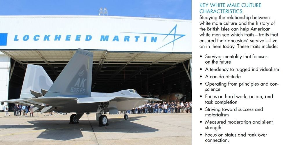 REVEALED: Lockheed Martin executives attended three day 'white male reeducation camp'