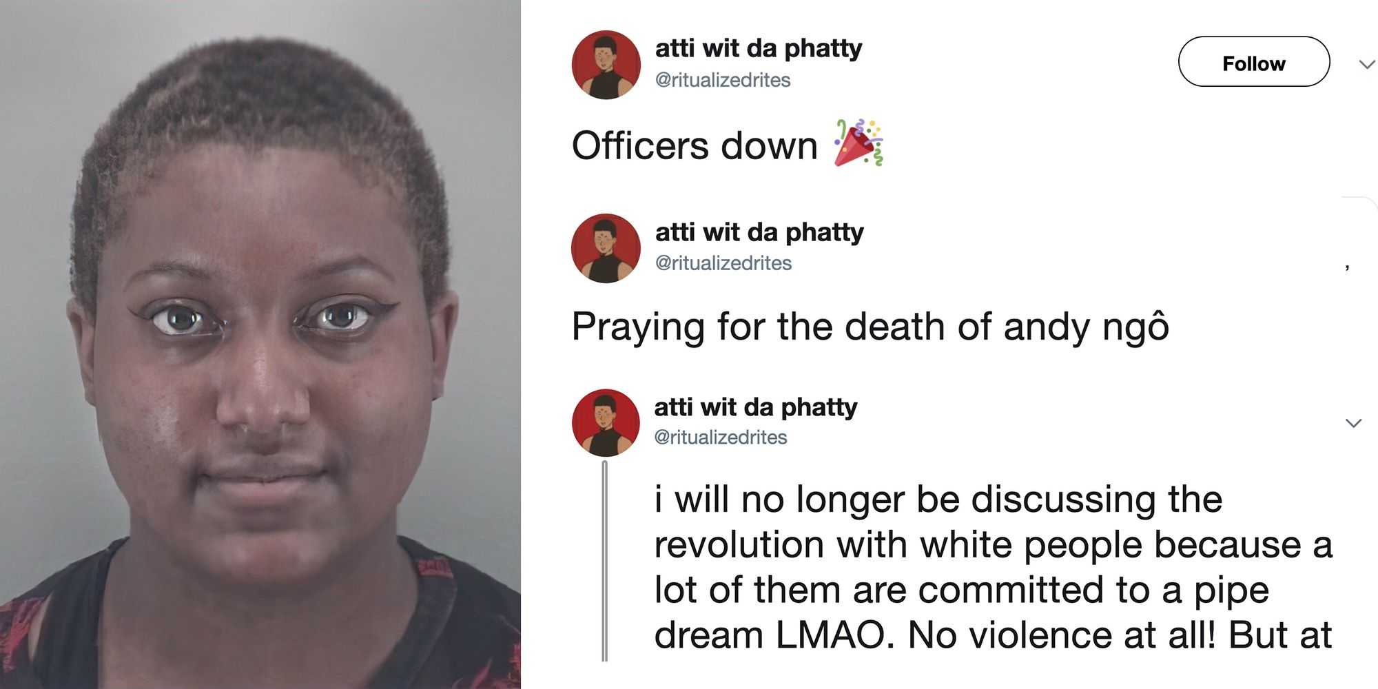 VCU student activist celebrates the shooting deaths of police officers, 'prays' for the death of Andy Ngo