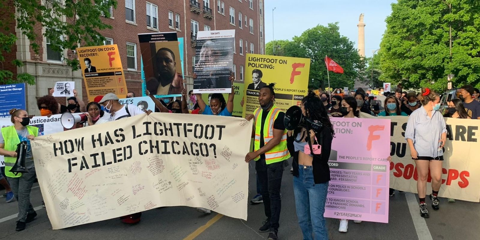 Hundreds protest outside Lori Lightfoot's home: 'It's not enough to be Black!'