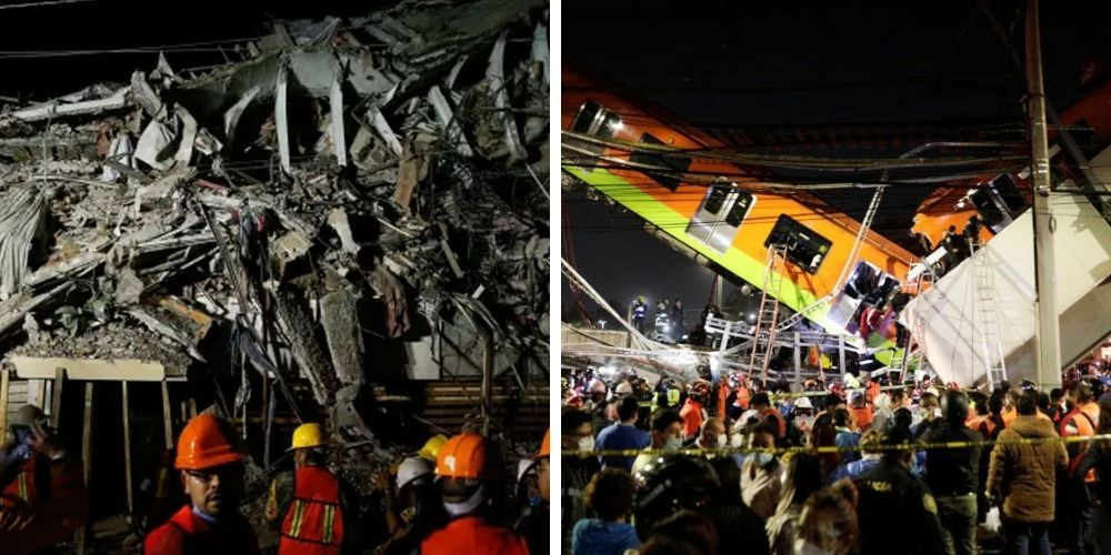 BREAKING: At least 15 dead and more than 30 injured after Mexico City train overpass collapses
