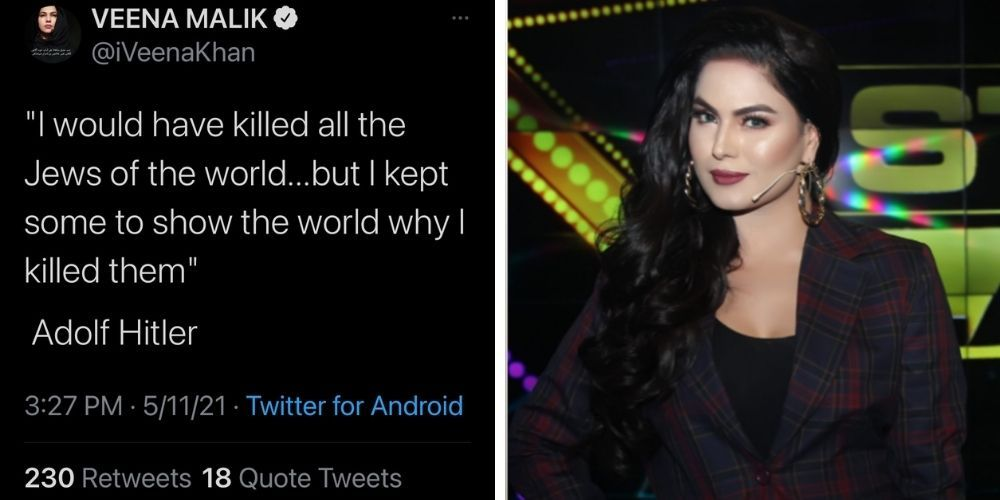 Muslim actress quotes Hitler in tweet: 'I would have killed all the Jews of the world'