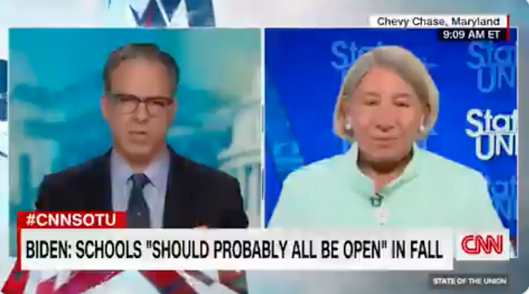 WATCH: Biden administration now claims schools 'should probably all be open' by September
