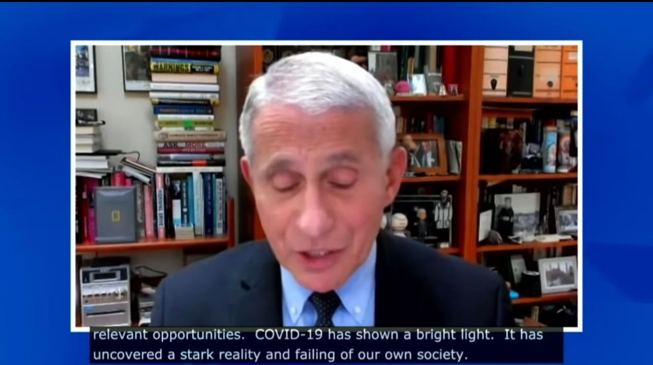 Dr. Fauci says that COVID-19 has exposed 'undeniable effects of racism'