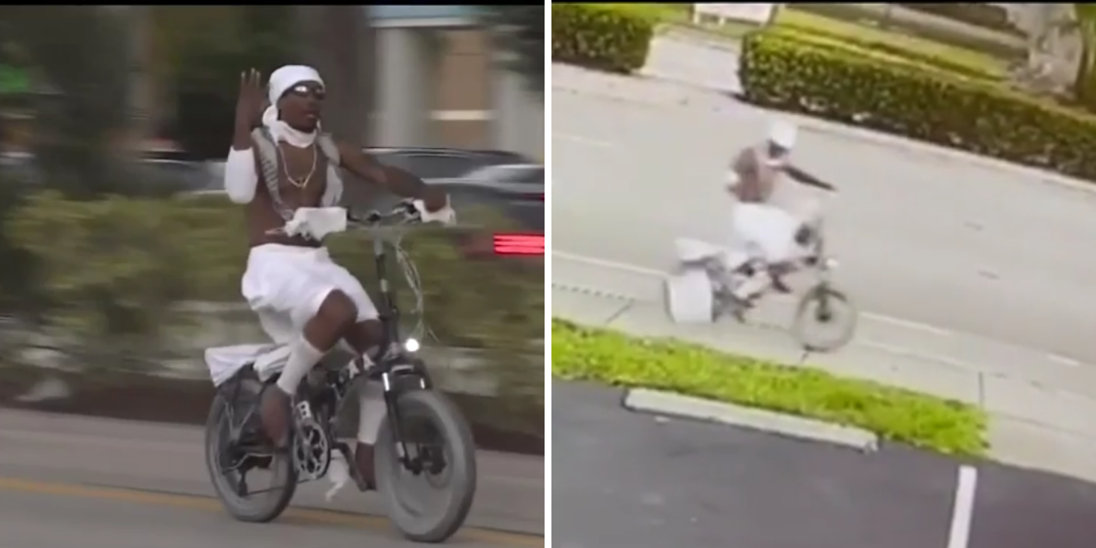 Man riding electric bike drops cooler of feces outside Florida synagogue