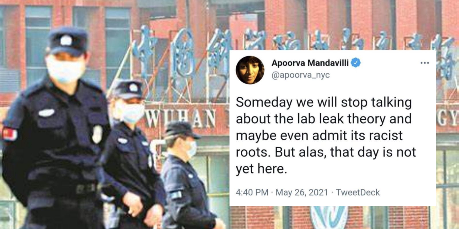 New York Times Covid reporter deletes tweet claiming Wuhan lab leak theory is rooted in 'racism'