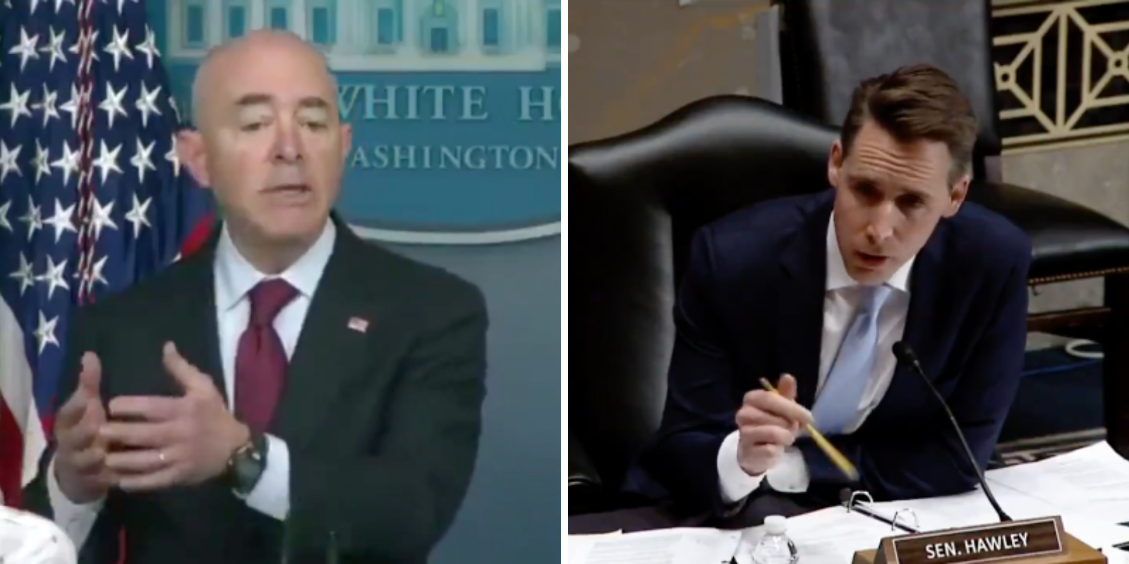 WATCH: Sen. Hawley brings receipts when DHS Secretary Mayorkas can't remember inviting migrants across border