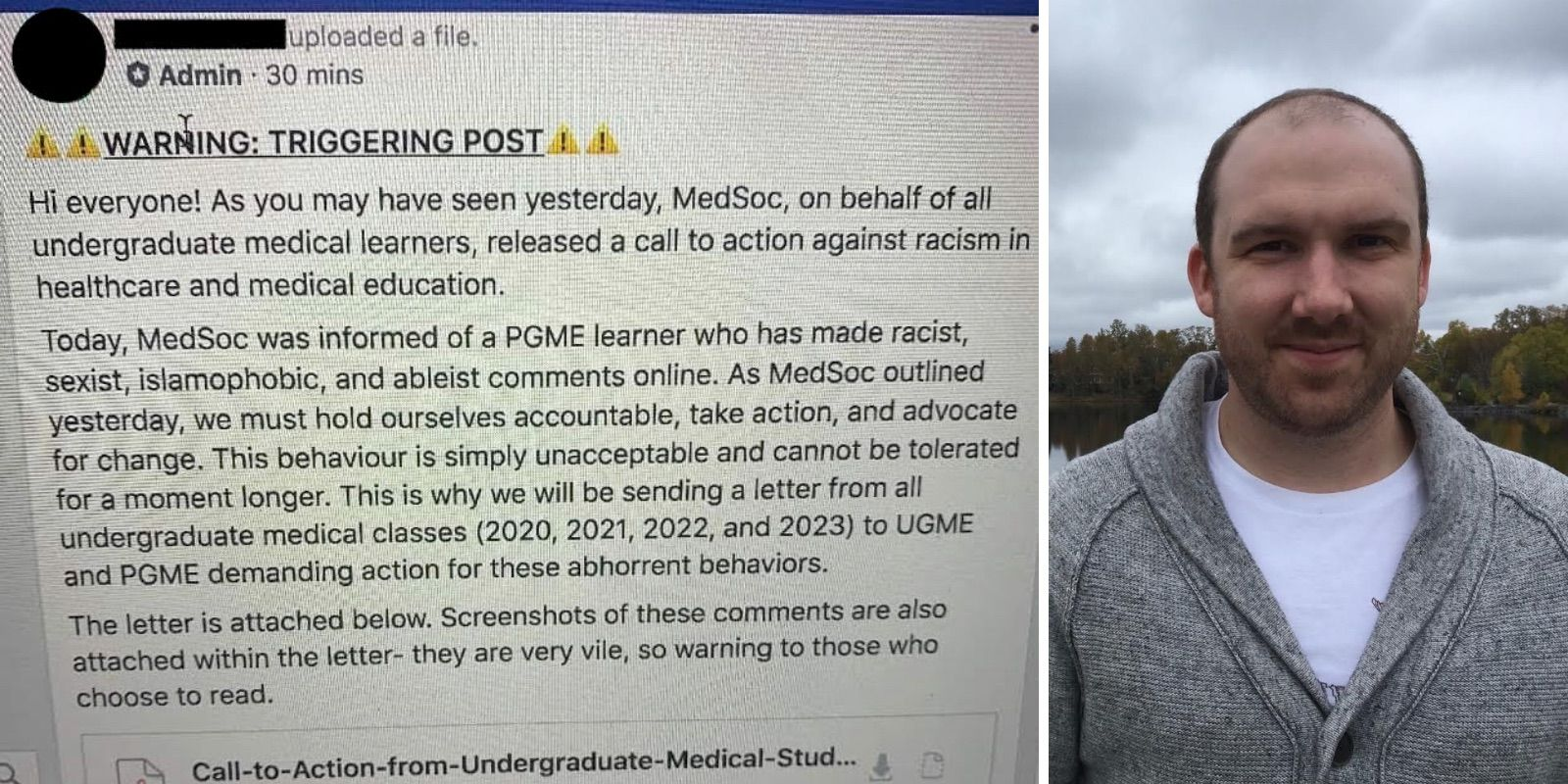 Mobbing of medical resident reveals double standards for social justice