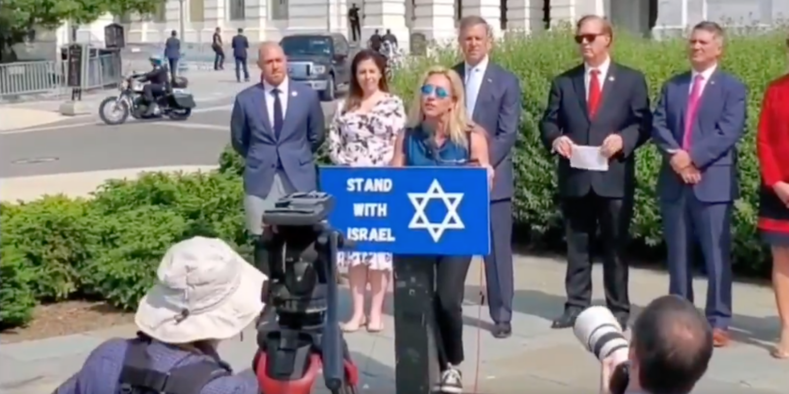 Marjorie Taylor Greene says she stands with Israel while Hamas-loving detractors claim she is 'antisemitic'