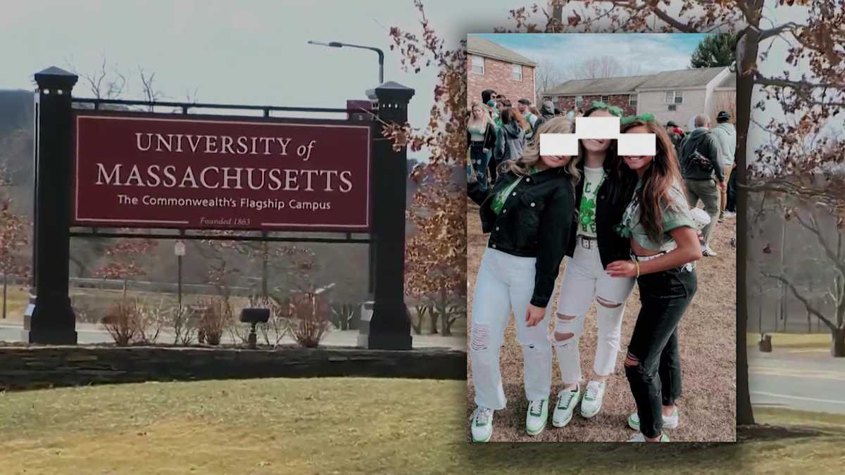 UMass Amherst students suspended after they were caught maskless at party
