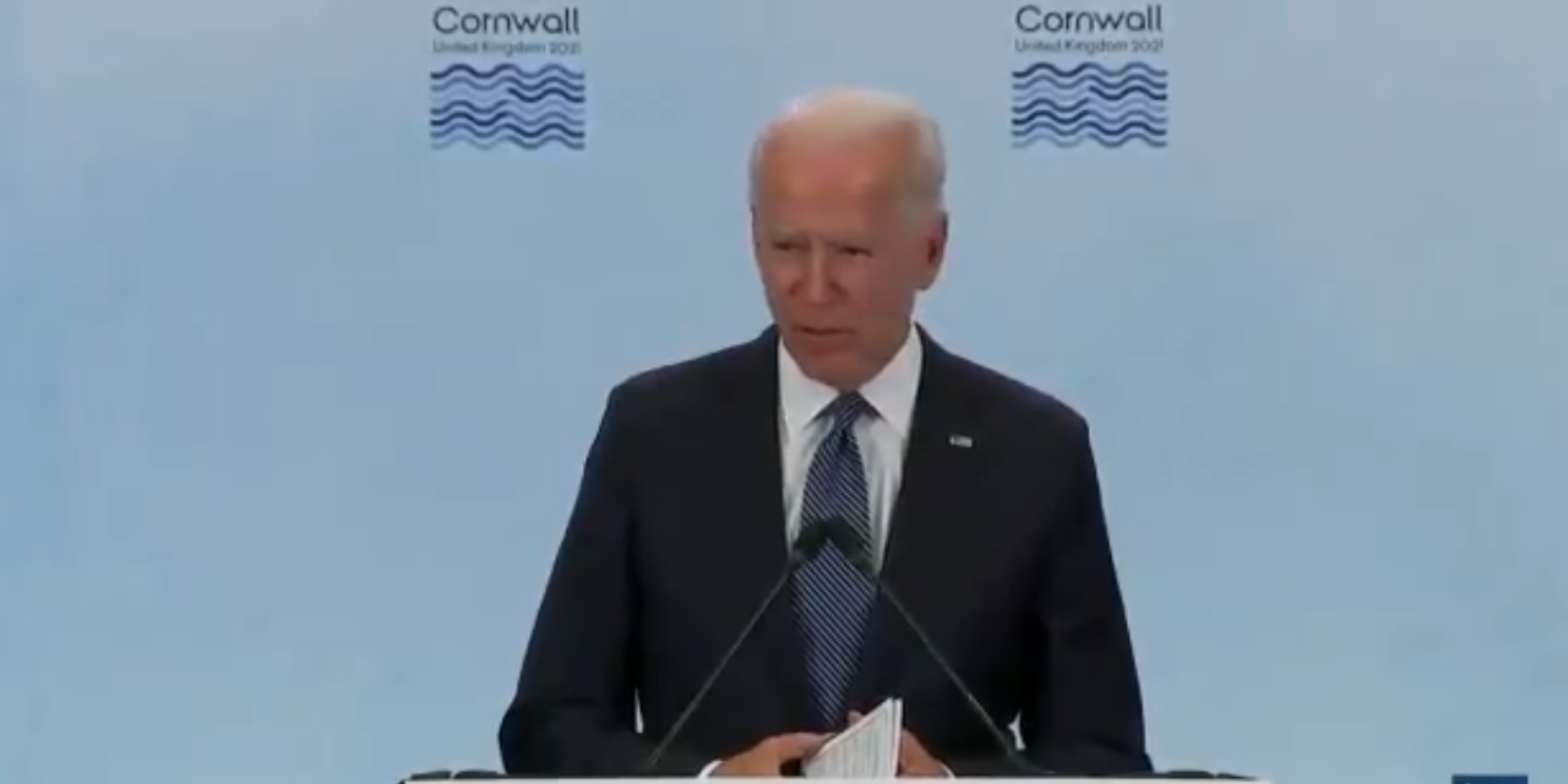BREAKING: Biden takes no questions from unauthorized reporters in gaffe-filled G7 press conference