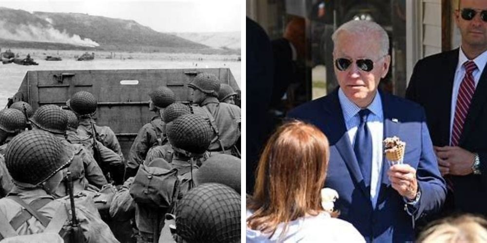 Biden slammed for failing to acknowledge the anniversary of D-Day