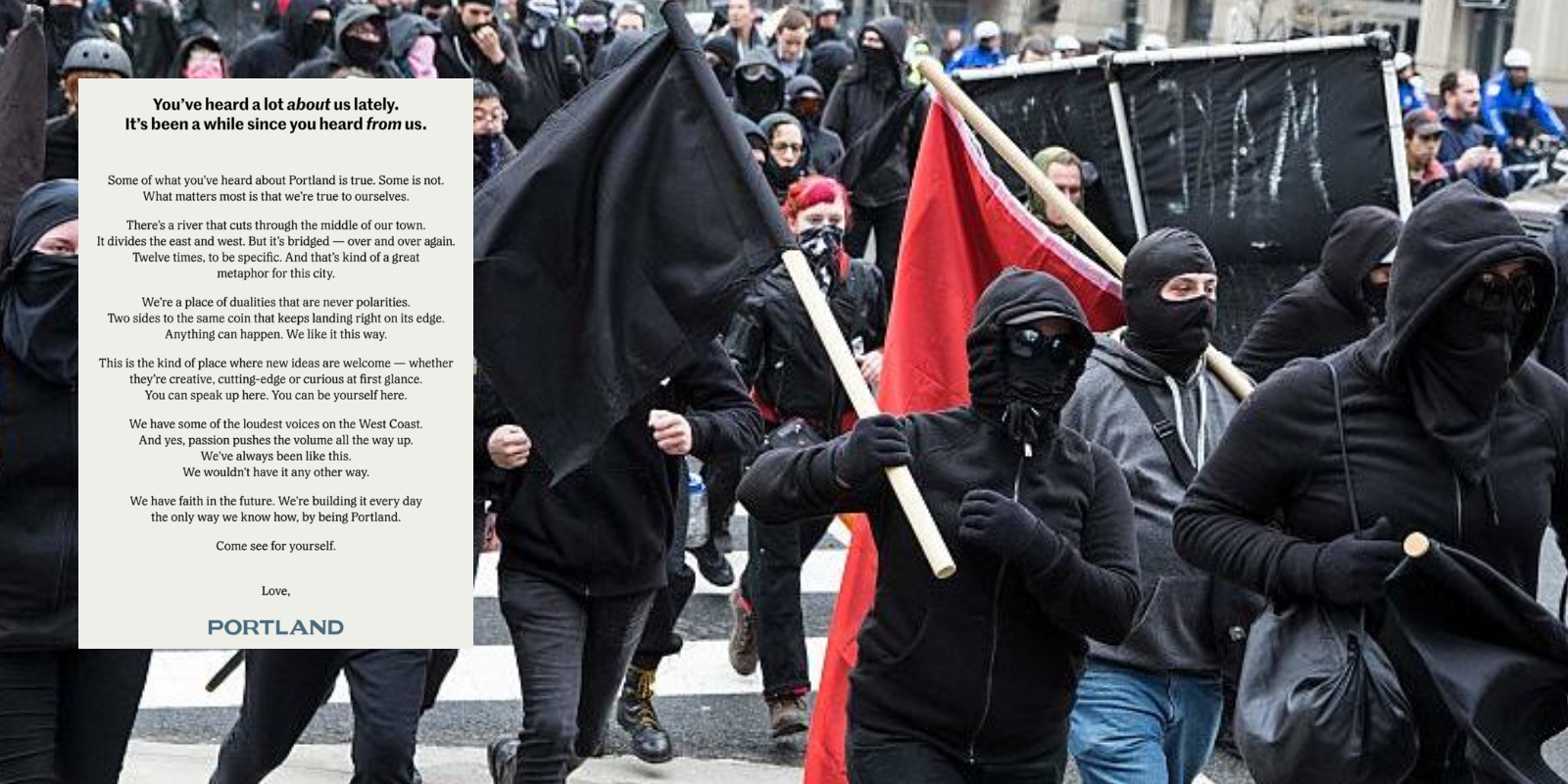 DAMAGE CONTROL: Portland takes out full page ad in The New York Times after year of riots