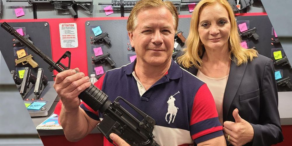 McCloskeys show off new gun after being forced to turn over previous weapons in plea deal