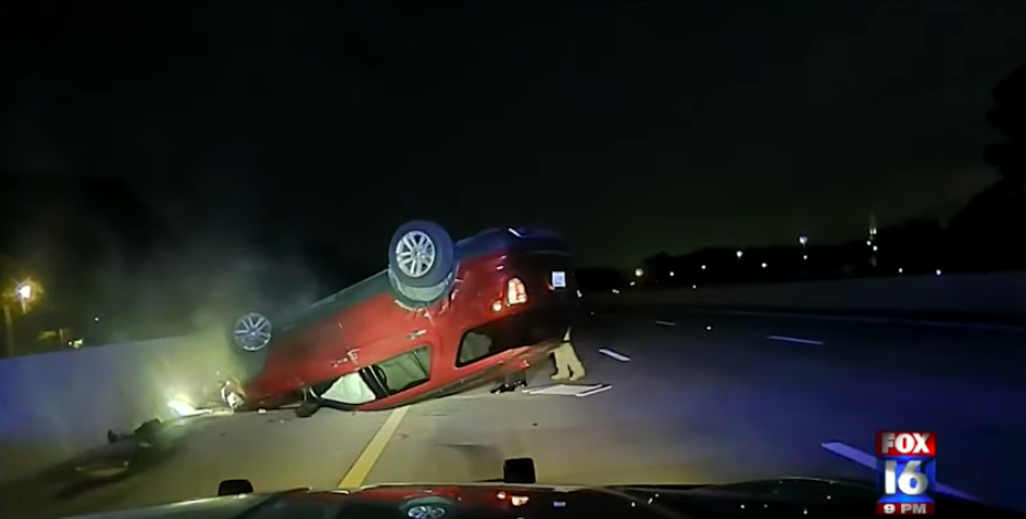 Woman sues AR state police after her car flipped during botched PIT manuever