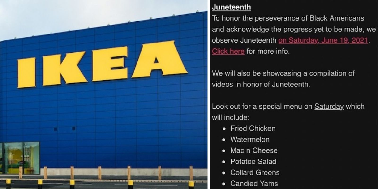 IKEA accused of racism for plans to serve Juneteenth menu of watermelon and fried chicken
