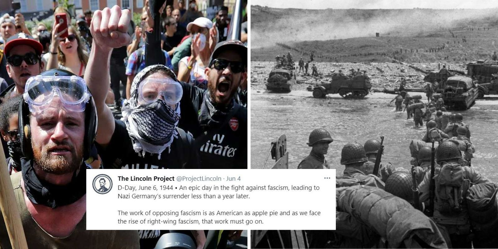 Lincoln Project compares Antifa terrorists to D-Day heroes