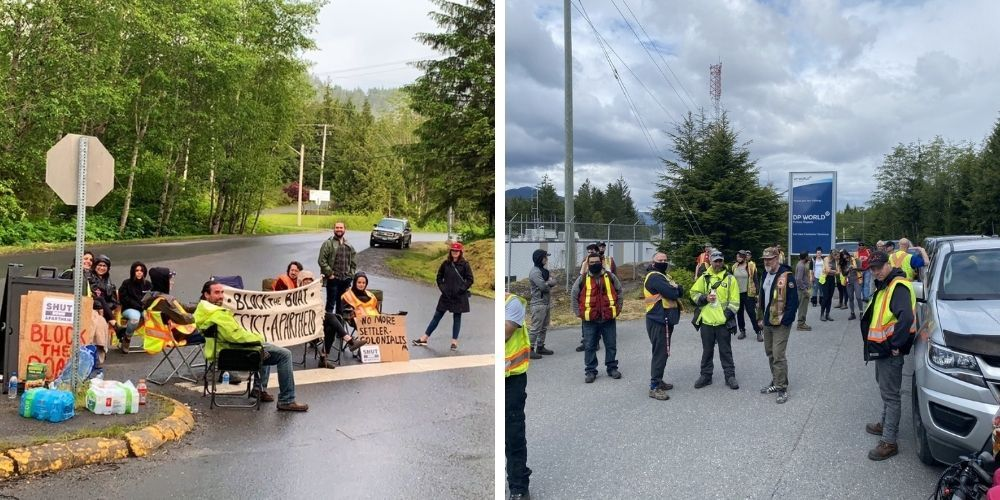 BDS FAIL: Cargo unloaded from Israeli container ship in Prince Rupert despite efforts of Pro-Palestinian activists