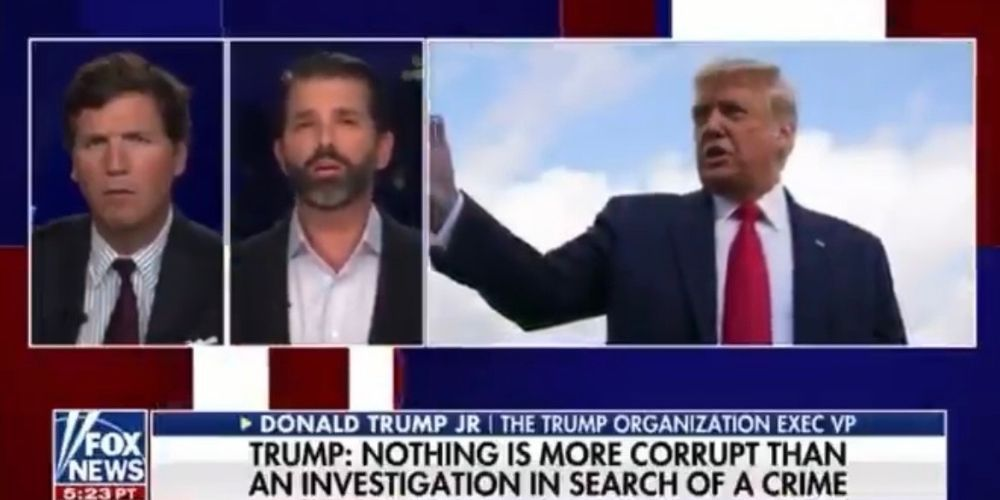 WATCH: Donald Trump Jr. explains the 'political persecution' of the Trump Organization by NY's attorney general