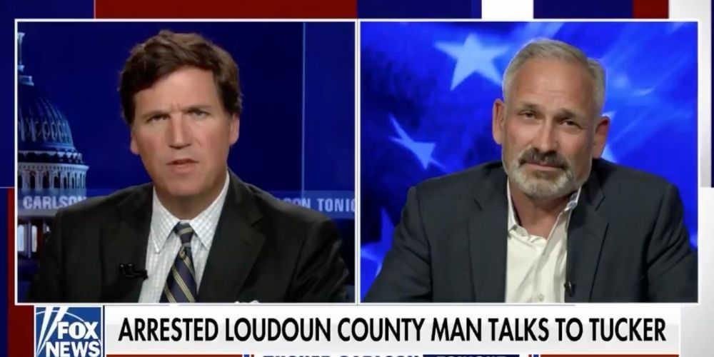WATCH: Dad arrested at Loudon County school board meeting speaks out on Tucker Carlson