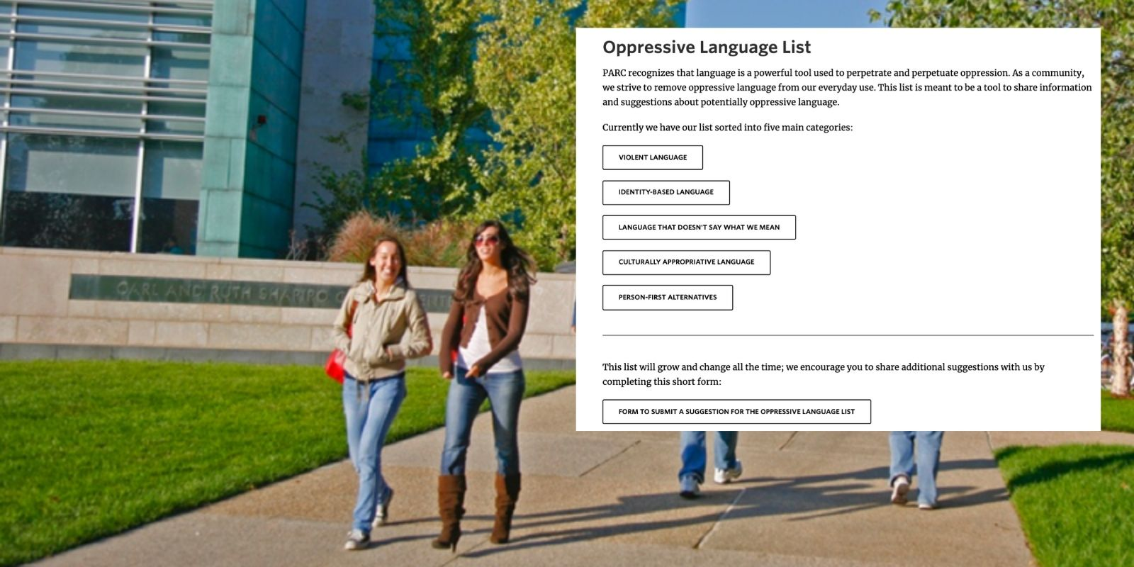 University demands people stop saying 'trigger warning' because it's too triggering