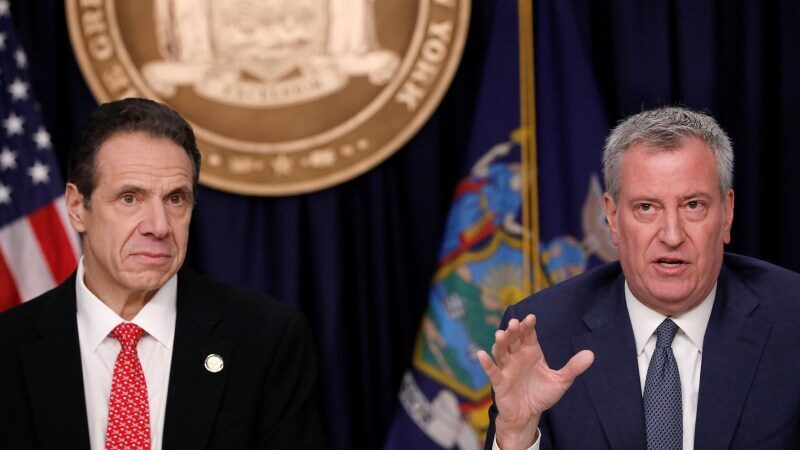 New York Governor Cuomo slams Mayor de Blasio for being 'not competent' as Eric Adams leads in NYC mayoral race
