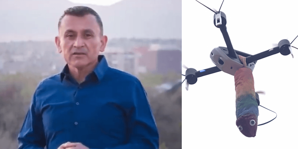 WATCH: New Mexico political candidate punched by man who then taunted him with flying 'dongcopter'