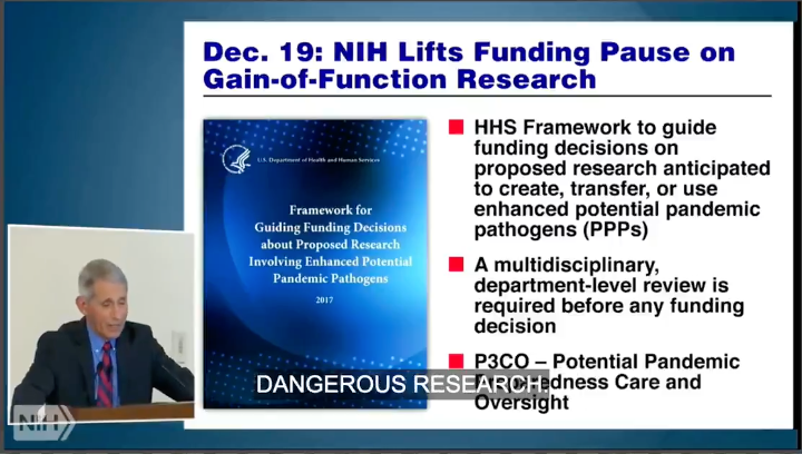 FLASHBACK: Fauci defends lifting NIH funding ban on gain-of-function research