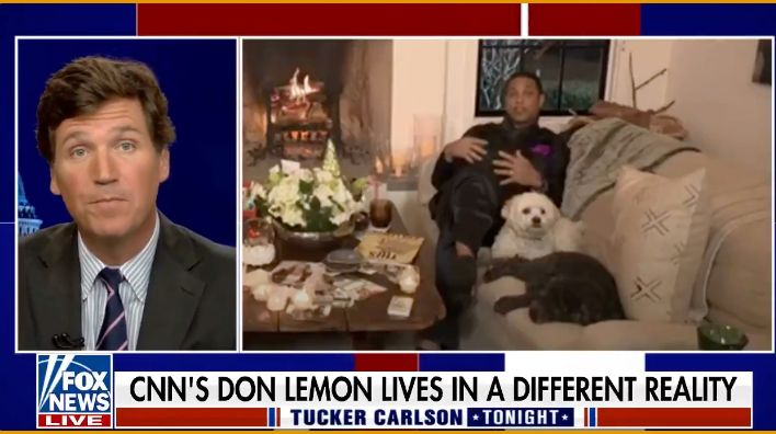 WATCH: Tucker Carlson reveals Don Lemon lives 'in one of the whitest towns in America'