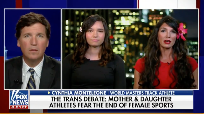 WATCH: Mother and daughter athletes speak out against the inclusion of biological males in women's sports on Tucker Carlson