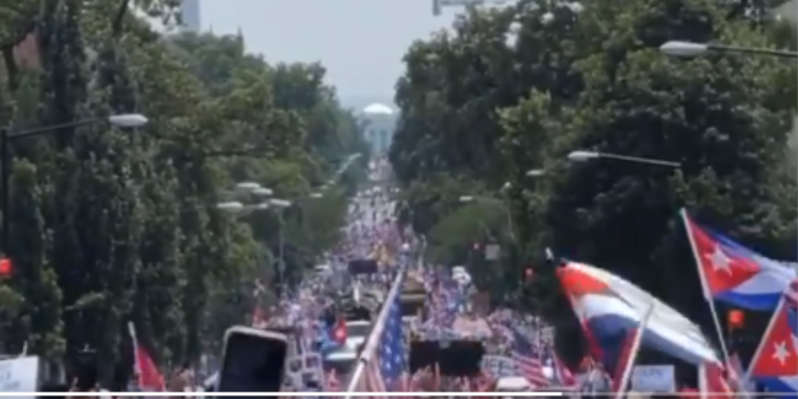 BREAKING: Thousands of protesters march to White House to demand Biden take action on Cuba