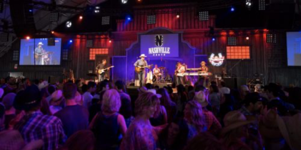 Thousands gather at Calgary Stampede's live music venue