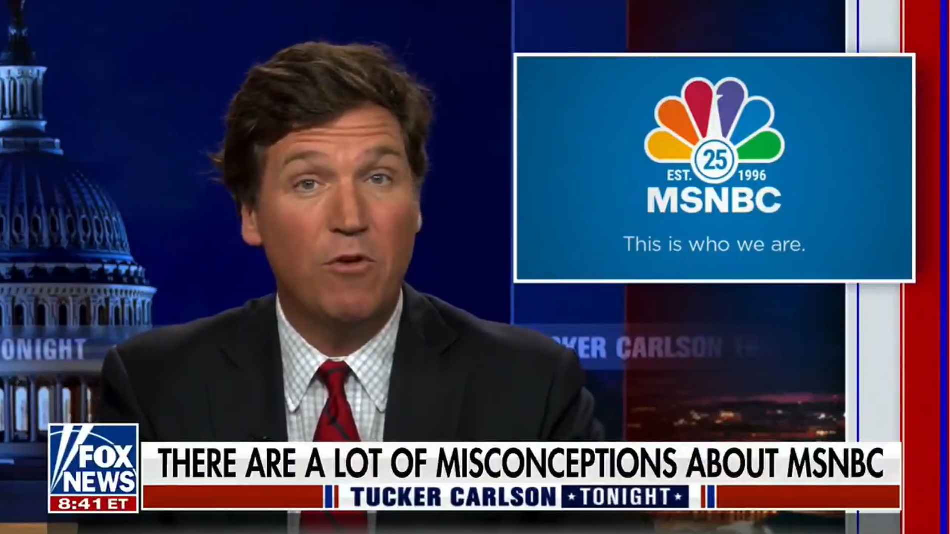 WATCH: Tucker Carlson wishes MSNBC a happy birthday, 'may all the kindness you spread keep coming back to you'