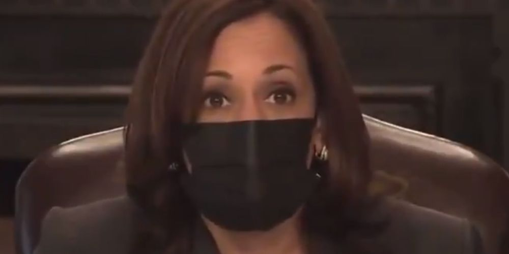 WATCH: Kamala demands reporters mask up as soon as CDC reverses guidance
