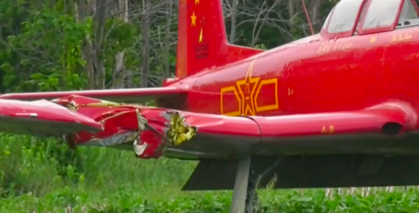 Woman killed after being struck by airplane while mowing airport grass