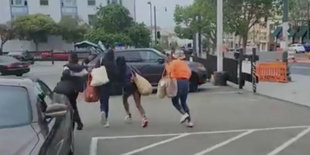 WATCH: 'Organized theft ring' captured on video in mass shoplifting incident in San Francisco