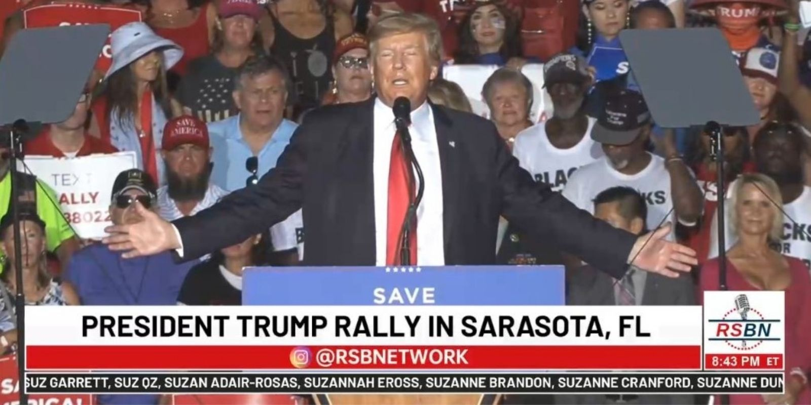 BREAKING: Trump speaks to massive crowd in Florida, slams media, witch hunts, critical race theory